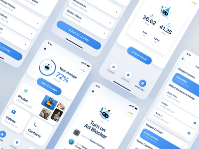Boost Cleaner - Clean your smartphone with ease contacts ui  ux design speed test photos ad blocker app cleaner cleaner mobile app design app design mobile app mobile app ux design ui ux ux ui design design ui