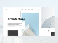 Architecture minimalistic concept for landing page