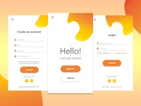 Daily UI #001 - Sign up. Register and Login.