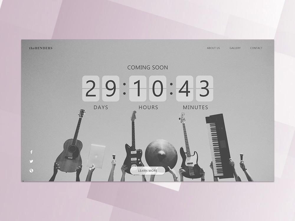 Daily UI#014 - Countdown Timer ui design ux web challenge timer countdown release albu music minimalism layout daily ui challenge daily 100 challenge daily ui concept adobe xd design ui dailyui 014 dailyui
