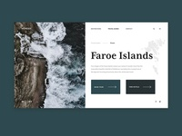Faroe Islands - UI Concept for Travel Blog