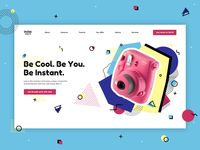 Instax 9 Landing Page Concept
