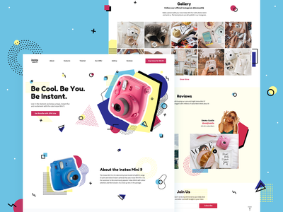 Landing Page Concept for Instax Mini 9