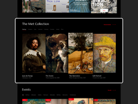Museum Website Landing Page Redesign Concept