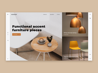 Furniture Store UI Concept Design