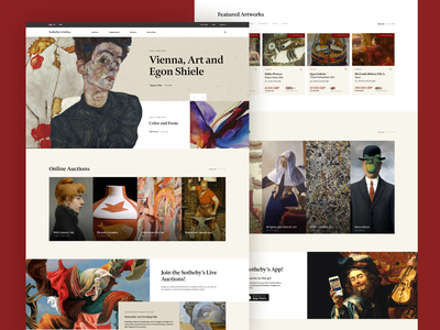 Sotheby's Online Auctions online ui ux art auction ui design concept design ui