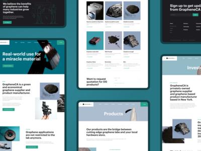 GrapheneCA. Corporate website redesign