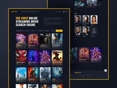 SpeedyTV. Streaming movie search engine redesign