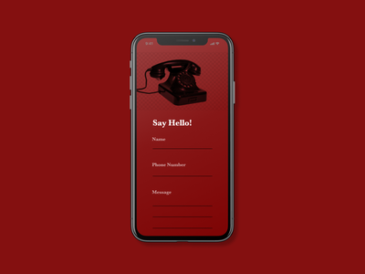 Daily UI 028 contact us old swiss style dailyui design