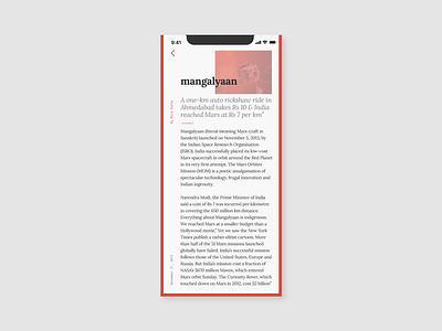 Daily UI 035 blogpost spacemission dailyui035 typography dailyui design