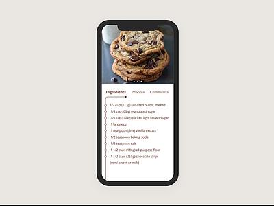 Daily UI 040 recipe dailyui design