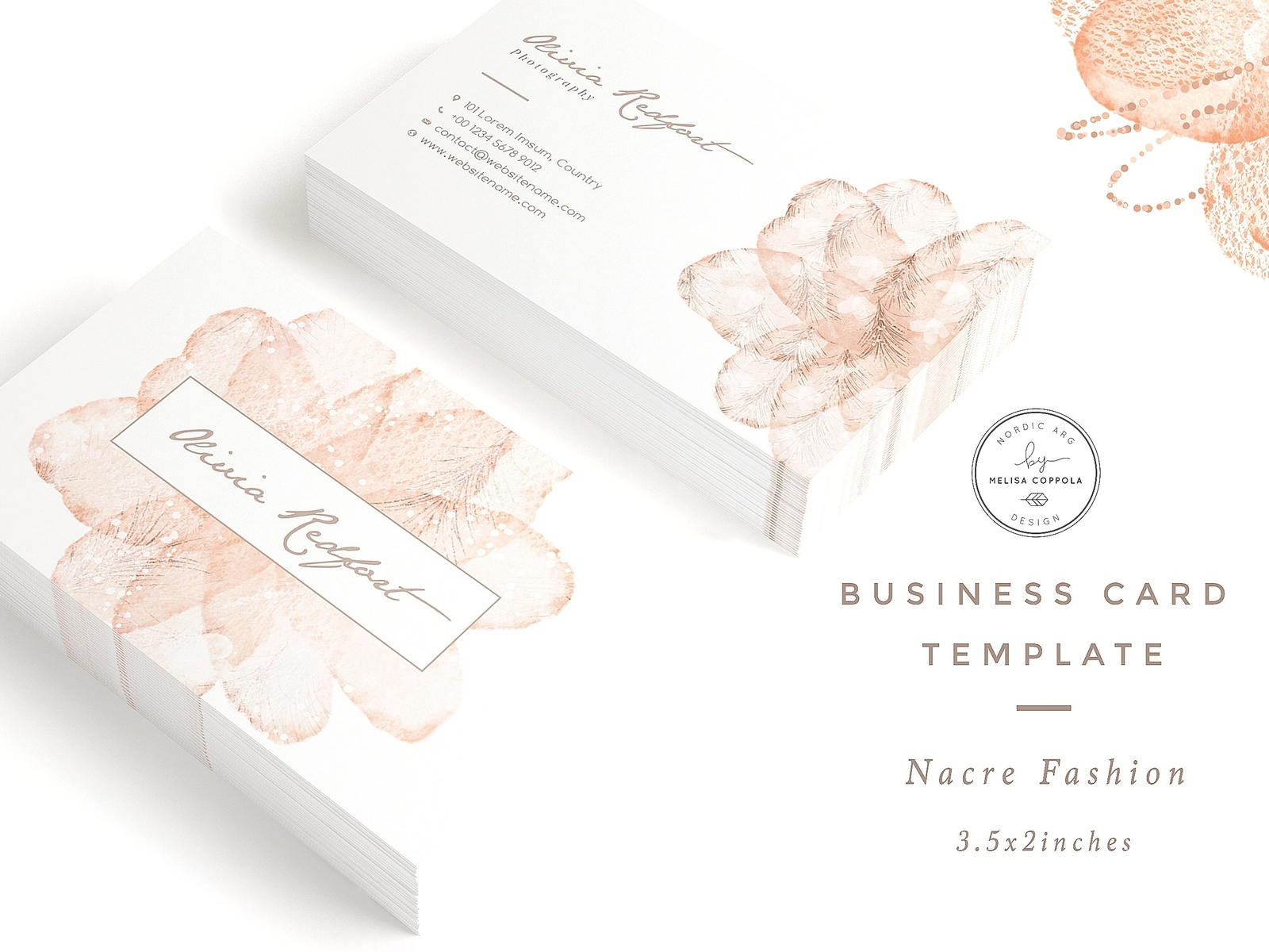 Nacre fashion business card template by business cards dribbble httpscreativemarketmelippola1201219 nacre fashion business card templateuaurom accmission Image collections