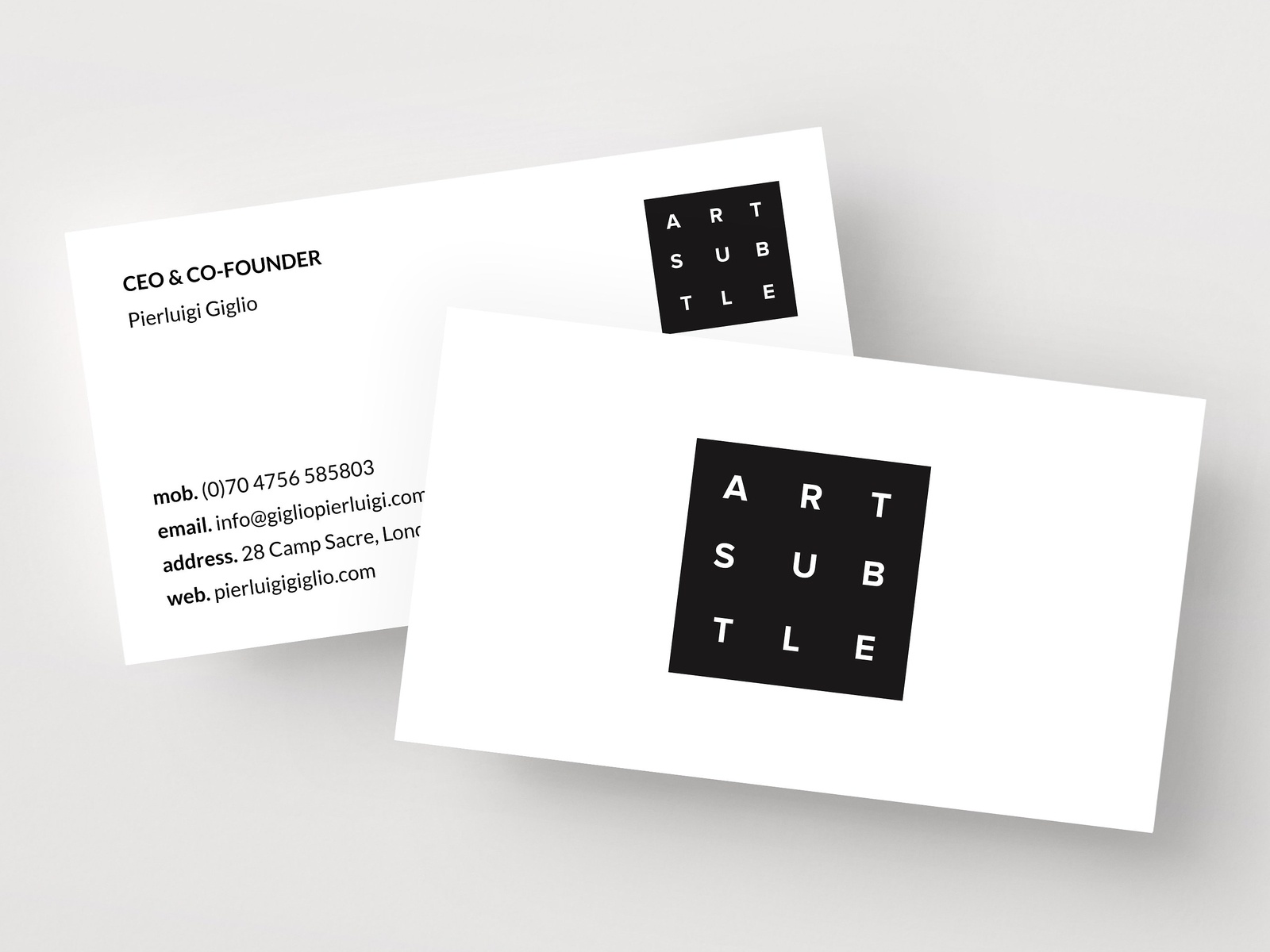 Personal Business Card Template By Business Cards Dribbble