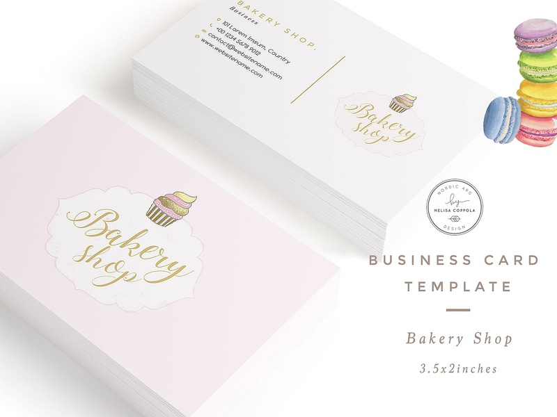 Bakery Shop Business Card Template By Business Cards Dribbble
