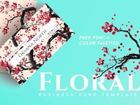 Floral Pink Blossom Business Card