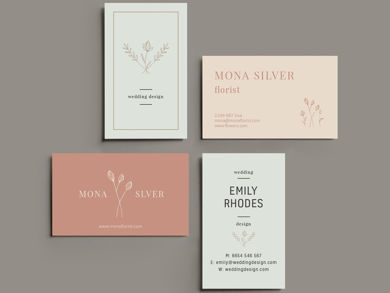 floral business card template by business cards dribbble dribbble