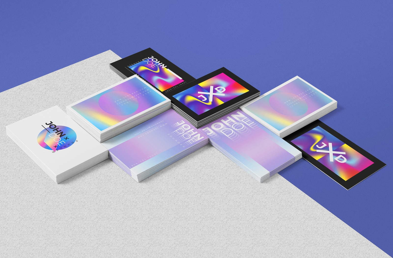265 business cards mockup addons 4 4x - Holographic Business Cards