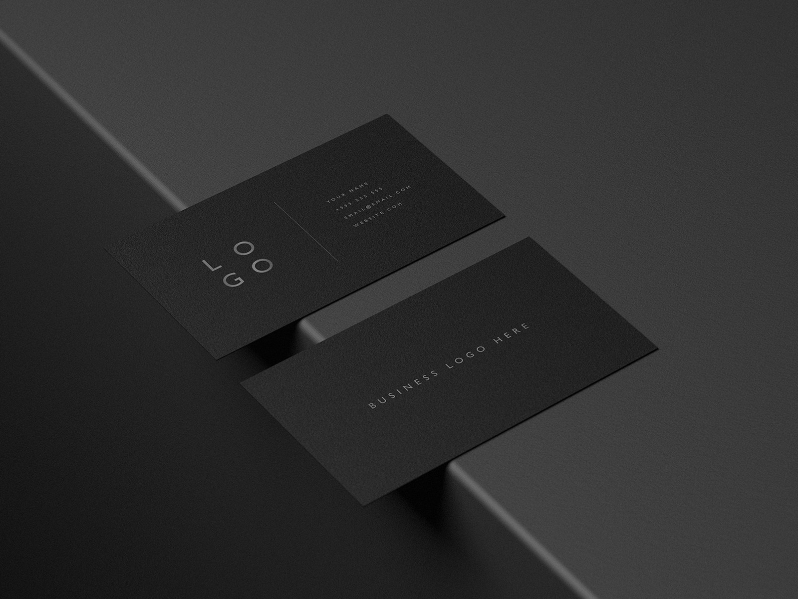 mockup pack black business cards by business cards dribbble
