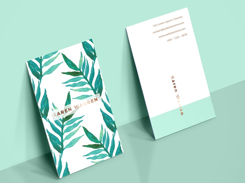 Botanical Watercolor Business Card 1 By Business Cards Dribbble