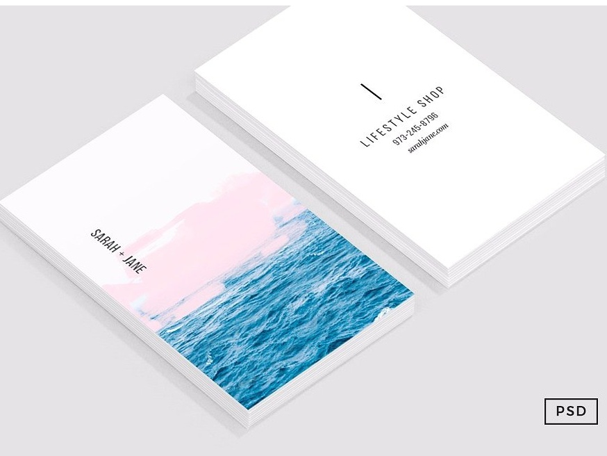 Ocean pink business card template by business cards dribbble ocean pastel pink business card template all wajeb Choice Image