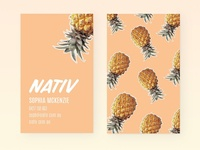 Nativ Pineapple Business Cards