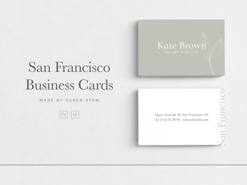 San Francisco Business Cards By Business Cards Dribbble Dribbble
