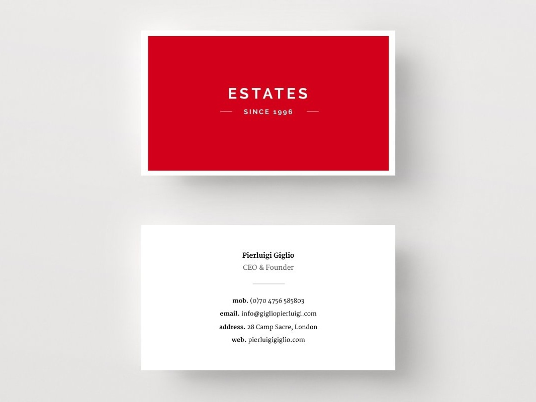 real estate business card template by business cards dribbble