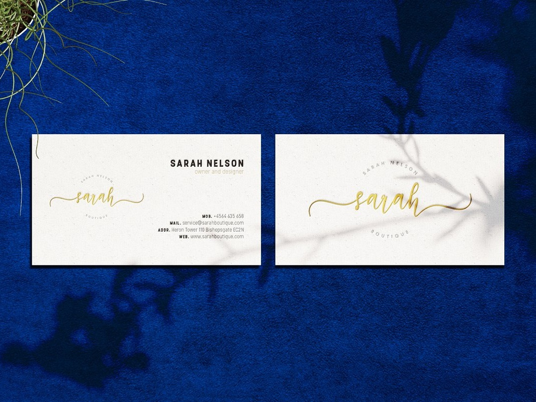 Luxurious Boutique Business Card By Business Cards Dribbble Dribbble
