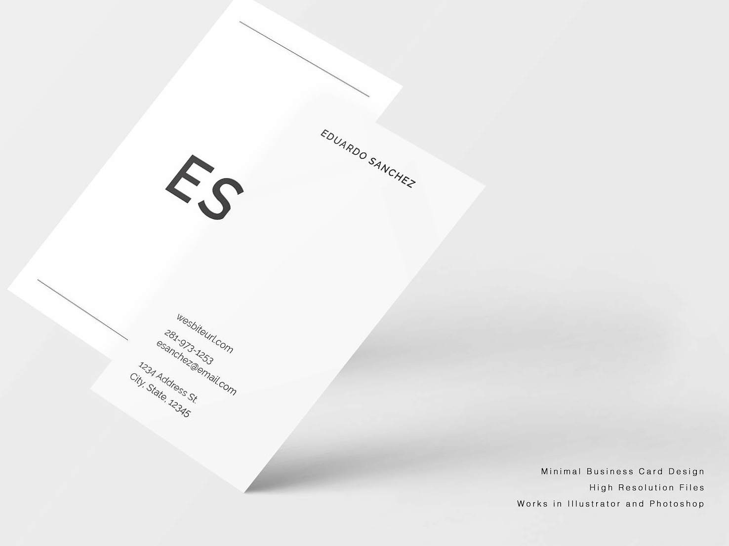 Minimal Business Card Design By Business Cards Dribbble Dribbble