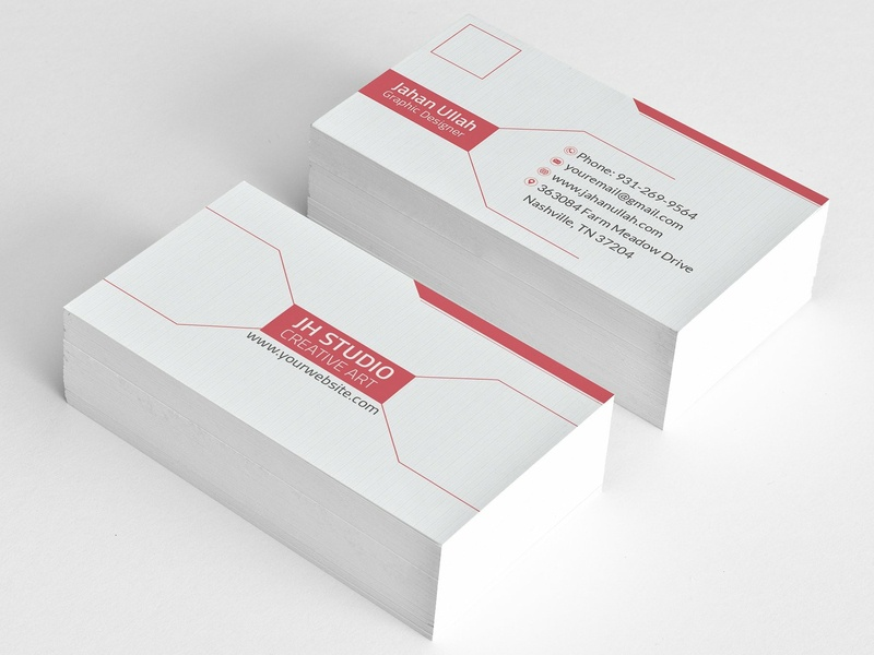 Corporate Business Card By Business Cards Dribbble Dribbble