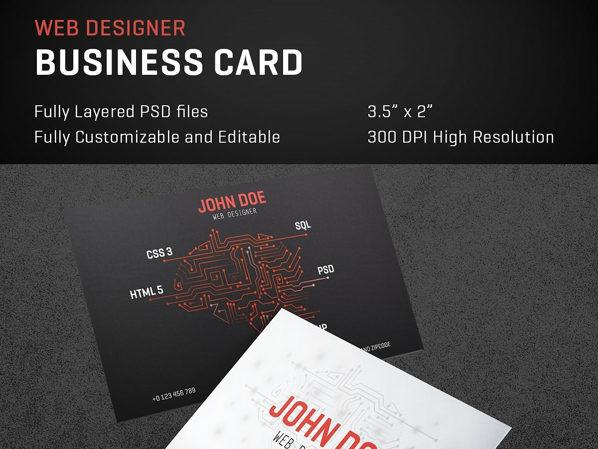 Web Designer Creative Business Card By Business Cards On