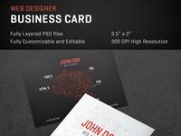 Web Designer Creative Business Card