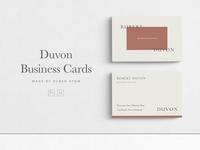 Duvon Business Cards