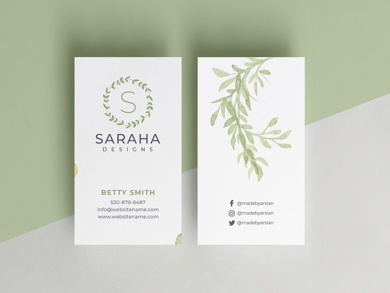 Minimal Business Card botanical business card templates business card business card template white indesign minimal icon illustration card template logo businesscards elegant cards design template business simple business card simple design simple