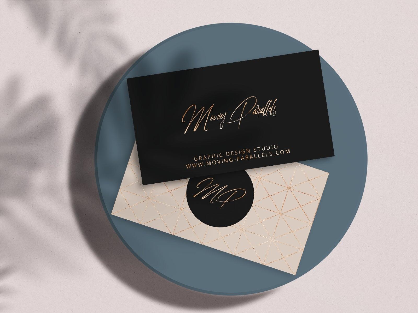 Elegant gold business card 1