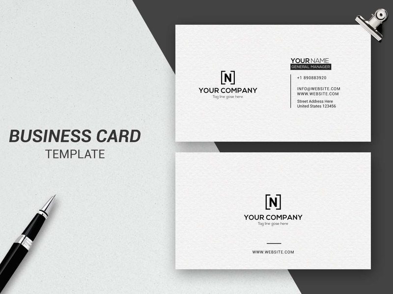 Simple Business Card download free corporate branding business card templates business card business card template white indesign minimal icon illustration card template logo businesscards elegant cards design template business simple