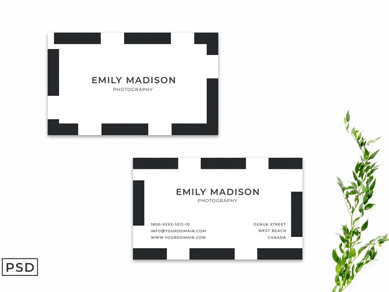Simple Business Card Template Ver. 2 corporate branding business card templates business card business card template pink botanical white indesign minimal icon illustration card template logo businesscards elegant cards design template business