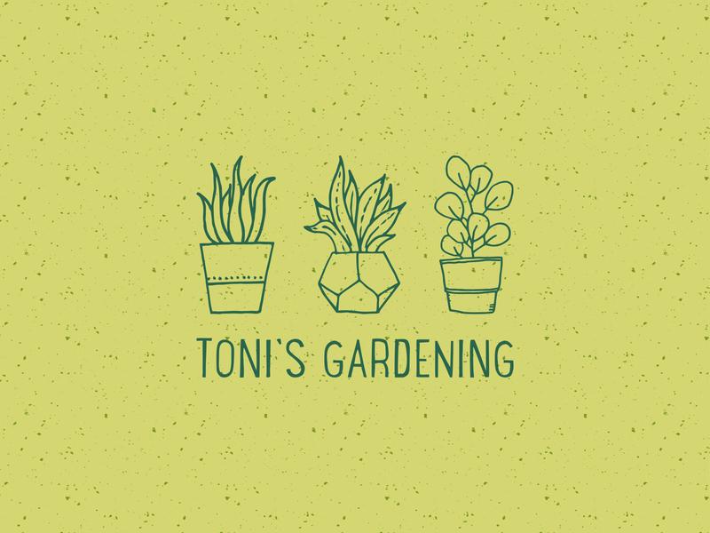 Toni's Gardening | Logo Concept logo design graphic design illustration icon mark logo brand type typography branding