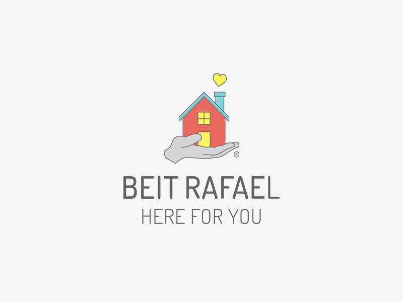 Beit Rafael | Vertical Logo community care accommodation hospital creative logo design colour palette brand mark graphic design typography logo branding design