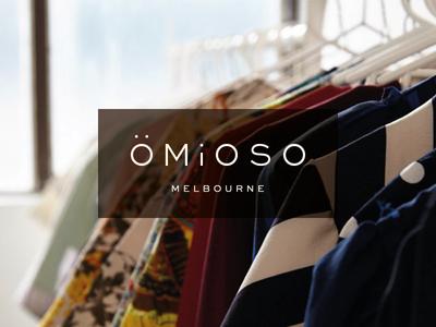 Omioso | Final Logo Reversed clothing label custom type logo design modesty simplicity elegance typography type logo identity branding brand