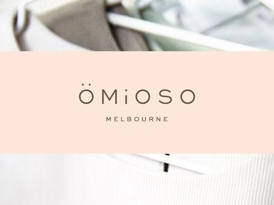 Omioso | Final Logo clothing label custom type logo design modesty simplicity elegance typography type logo identity branding brand