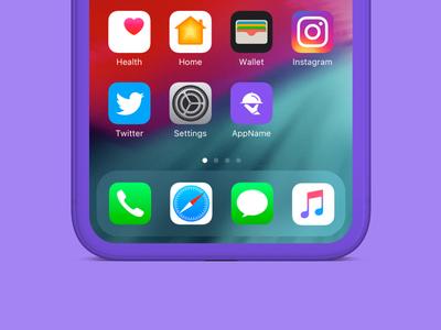 Lunch App | Icon on iPhone Home Screen app iphone mockup lunch food colour ios icon design app design graphic design ux logo mark ui design branding