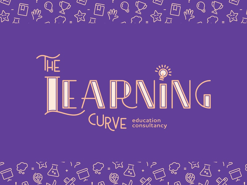 The Learning Curve | Primary Logo education lettering creative logo design graphic design pattern colour custom type brand type typography logo branding