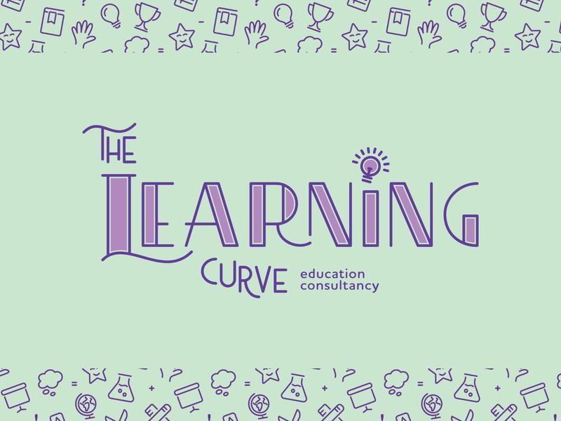 The Learning Curve | Primary Logo education identity lettering logo design colour palette pattern colour graphic design custom type brand design type typography logo branding