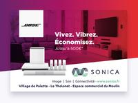 Campagne Publicitaire Sonica Bose fin d'année