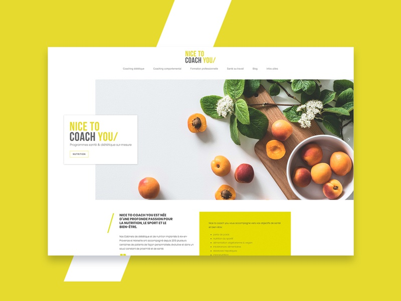 Nice To Coach You - Website Homepage coach web webdesign france agency digital healthy diet ux website