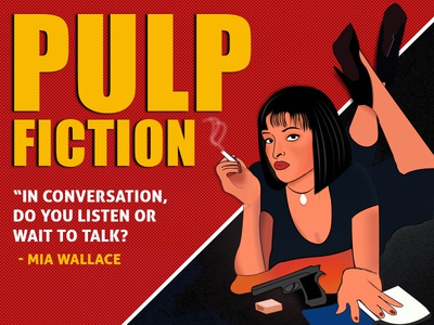 Pulp Fiction Mia Wallace Old Comic Style quotes vexelart pulp fiction girl character cigarettes comic book character pulpfiction movie poster movie art