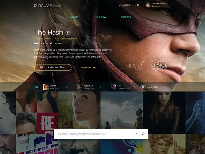 Website for Muvie Cube  movie dark show tv muvie design interface web website webdesign