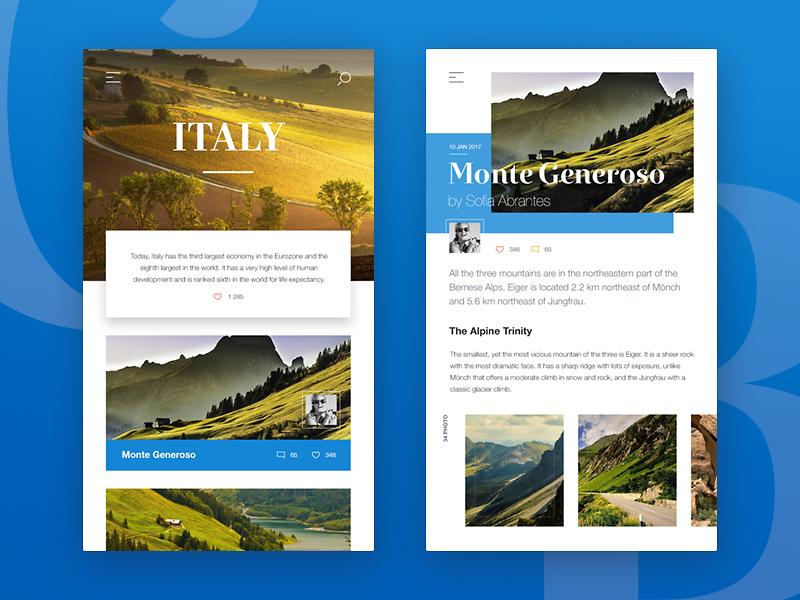 Travel Blog trip routes map travel retina mobile interface ui design ux design ui