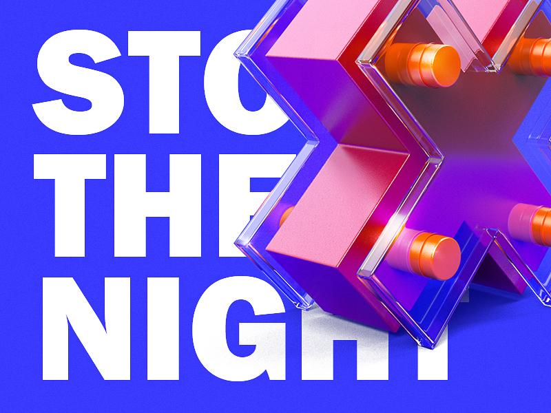 Flyer illustration design color material blue 3d illustration